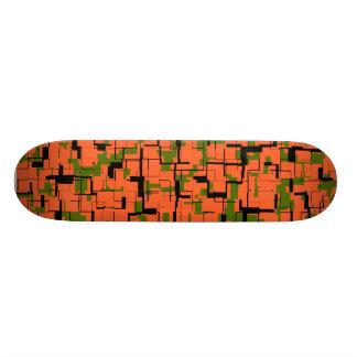 Shape De Skate 18,4cm Teste padrão preto alaranjado verde de Digitas