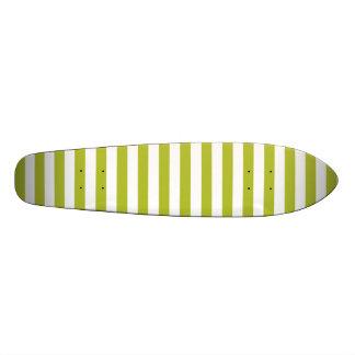 Shape De Skate 18,4cm Teste padrão verde e branco da listra