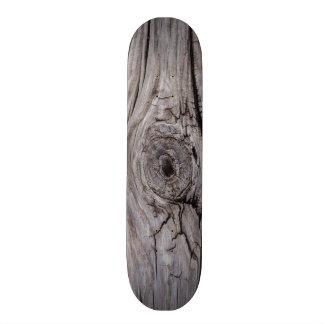 Shape De Skate 18,4cm Textura de madeira da madeira do nó
