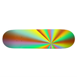 Shape De Skate 18,7cm Abstrato colorido do Sunburst