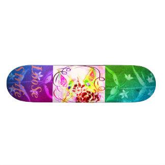 Shape De Skate 18,7cm Arco-íris botânico Unico do vintage RUBYK da