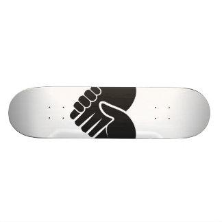 Shape De Skate 18,7cm Coração preto conectado amor