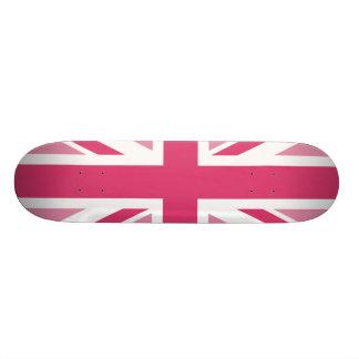 Shape De Skate 18,7cm ~ de Union Jack em rosa femininos