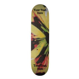 Shape De Skate 18,7cm design moderno original amarelo preto da arte