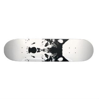 Shape De Skate 18,7cm Lobo preto da ilustração