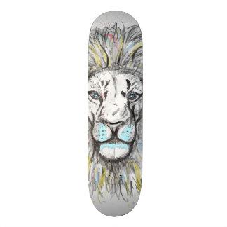Shape De Skate 18,7cm Mão legal o leão tirado do esboço e da aguarela