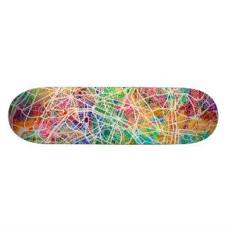 Shape De Skate 18,7cm Mapa de ruas de Paris France