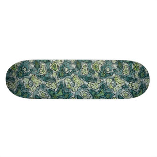 Shape De Skate 18,7cm Máscaras abstratas do verde