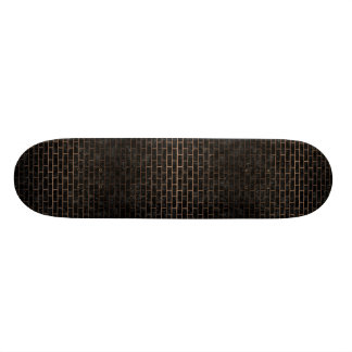 SHAPE DE SKATE 18,7CM METAL PRETO DO MÁRMORE BRICK1 & DO BRONZE
