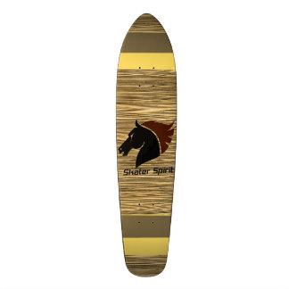 Shape De Skate 18,7cm Monopatim Skater Spirit com modelo de madeira