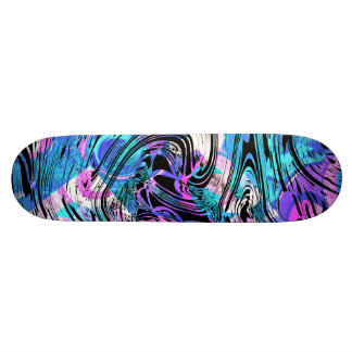 Shape De Skate 18,7cm O algodão doce cor-de-rosa e o azul rodam