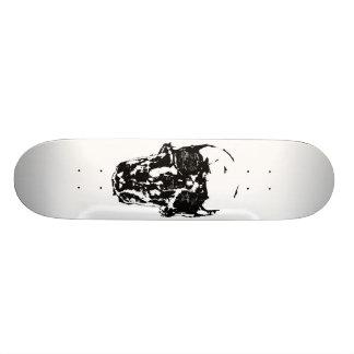Shape De Skate 18,7cm O crânio preto