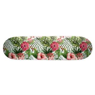 Shape De Skate 18,7cm O hibiscus tropical floresce o teste padrão da