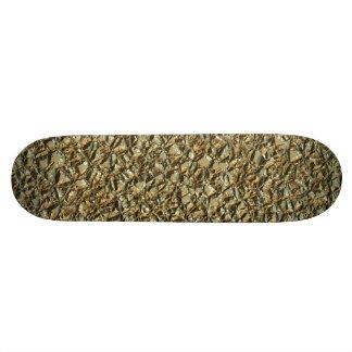Shape De Skate 18,7cm ouro de pedra irregular