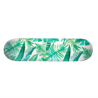 Shape De Skate 18,7cm Plataforma tropical da folha pelo design de
