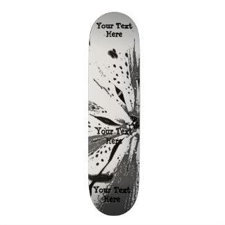 Shape De Skate 18,7cm preto e branco espirra o estilo abstrato da arte