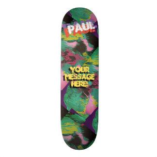 Shape De Skate 18,7cm Preto roxo derramado na moda do verde da pintura