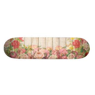 Shape De Skate 18,7cm Rosas românticos rústicos do vintage de madeira