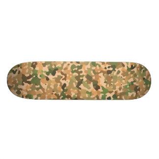 Shape De Skate 18,7cm Teste padrão de Camo - preto alaranjado verde de
