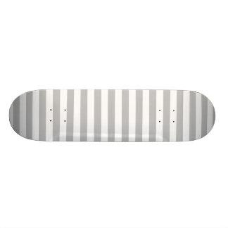 Shape De Skate 18,7cm Teste padrão diagonal do cinza e o branco das