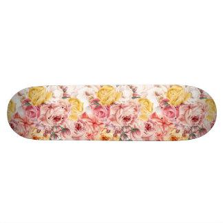 Shape De Skate 18,7cm Teste padrão do grunge do buquê floral do