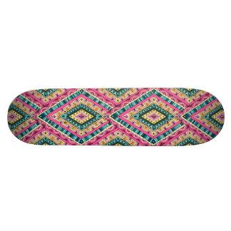 Shape De Skate 18,7cm Teste padrão tribal abstrato colorido brilhante de