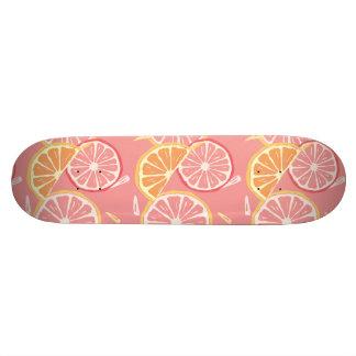 Shape De Skate 18,7cm Teste padrão tropical da toranja cor-de-rosa e do