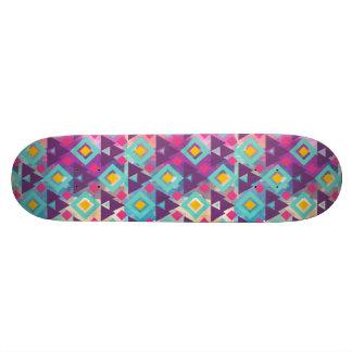 Shape De Skate 18,7cm Teste padrão vibrante colorido do batik do boho da