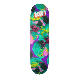 Shape De Skate 18,7cm Turquesa cor-de-rosa roxa derramada na moda da