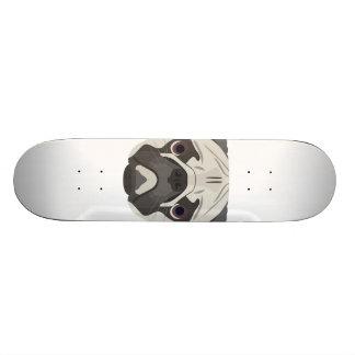 Shape De Skate 19,7cm A ilustração persegue o Pug da cara