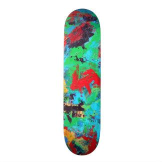 Shape De Skate 19,7cm Brushstrokes abstratos pintados Respingo-Mão