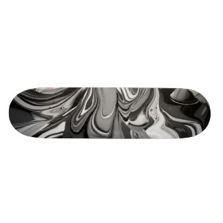 Shape De Skate 19,7cm Derramar da cor (em preto e branco)