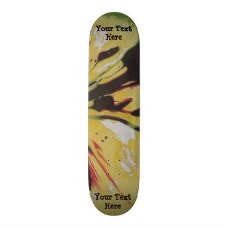 Shape De Skate 19,7cm design moderno original amarelo preto da arte
