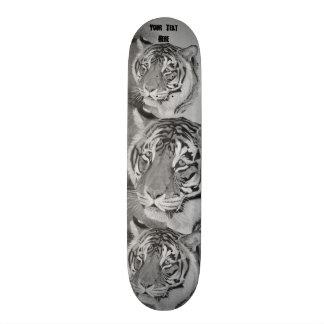 Shape De Skate 19,7cm design preto e branco da arte dos animais