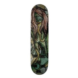 Shape De Skate 19,7cm design retro de levantamento verde da senhora da