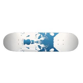 Shape De Skate 19,7cm Lobo do azul de gelo da ilustração