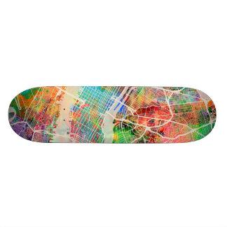 Shape De Skate 19,7cm Mapa de ruas da Nova Iorque