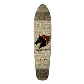 """Shape De Skate 19,7cm Monopatim """"Skater Spirit"""" em natureza cor+Símbolos"""