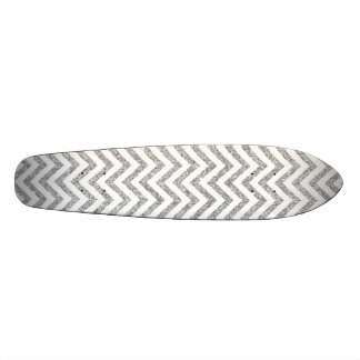 Shape De Skate 19,7cm O ziguezague de prata do brilho listra o teste