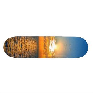 Shape De Skate 19,7cm Por do sol bonito do oceano