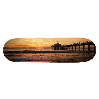 Shape De Skate 19,7cm Por do sol da praia do cais