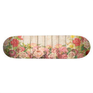 Shape De Skate 19,7cm Rosas românticos rústicos do vintage de madeira