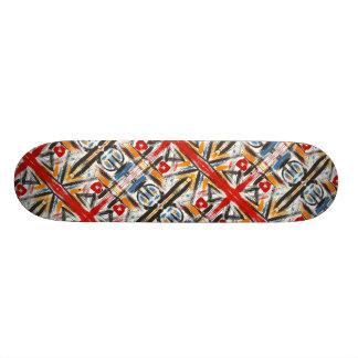 Shape De Skate 19,7cm Sótão-Mão moderna arte geométrica abstrata pintada