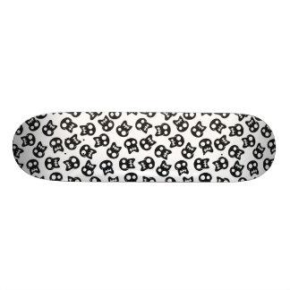 Shape De Skate 19,7cm Teste padrão cómico do preto do crânio