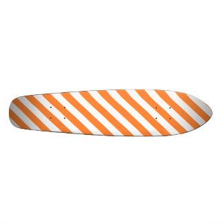 Shape De Skate 19,7cm Teste padrão diagonal alaranjado e branco das