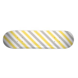 Shape De Skate 19,7cm Teste padrão diagonal cinzento e amarelo das
