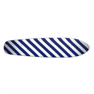 Shape De Skate 19,7cm Teste padrão diagonal do azul marinho e o branco