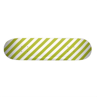 Shape De Skate 19,7cm Teste padrão verde e branco da listra