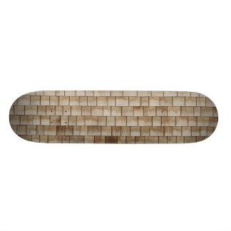 Shape De Skate 19,7cm textura de madeira bege da parede do grunge