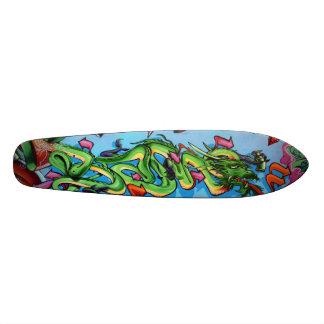 Shape De Skate 19,7cm Vetores do dragão verde - plataforma de Streetart